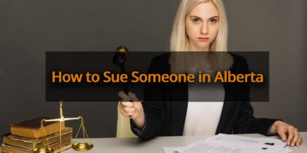 sue someone in Alberta